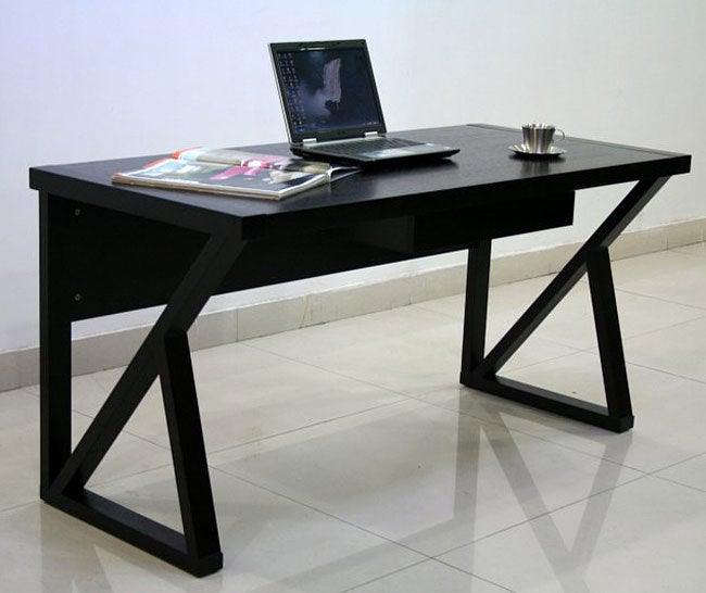 Modern Espresso Desk - 80071042 - Overstock.com Shopping - Great Deals