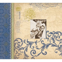 Blue Awning 12x12 Postbound Scrapbook