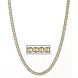 Simon Frank 14k Gold Overlay 6mm Gucci-style Necklace (24-inch)