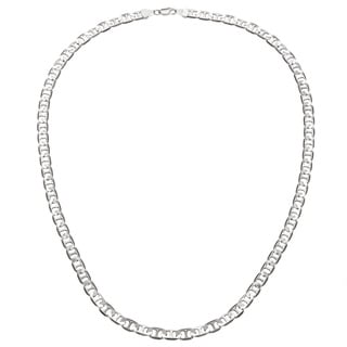 Simon Frank 14k White Gold Overlay 6mm Gucci-style Necklace (24-inch)