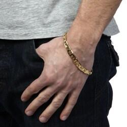 Simon Frank 14k Gold Overlay 8-inch Gucci-style Bracelet 8mm