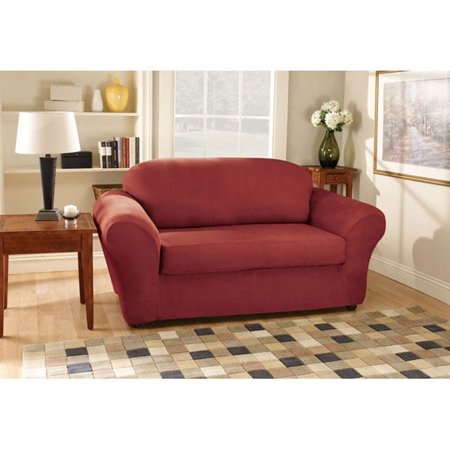 Sure Fit Stretch Suede Sofa Slipcover Overstock