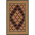"Hand-Tufted Geometric Contemporary Mandara Rug (5' x 7' 6"")"