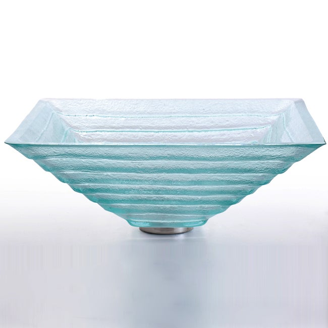 Kraus Alexandrite Square Clear Glass Vessel Sink - 11358416 ...