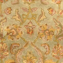Safavieh Handmade Heritage Kermansha Green/ Gold Wool Runner (2'3 x 12')
