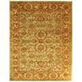 Safavieh Handmade Heritage Kermansha Green/ Gold Wool Rug (5' x 8')