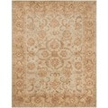 Handmade Heritage Kermansha Green/ Gold Wool Rug (9&#39;6 x 13&#39;6)