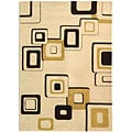 Handmade Soho Gala Beige/ Brown New Zealand Wool Rug (3'6 x 5'6)