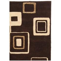 Safavieh Handmade Soho Gala Brown/ Beige New Zealand Wool Rug (5' x 8')