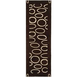 Safavieh Handmade Soho Eclipse Brown/ Ivory N. Z. Wool Runner (2'6 x 12')
