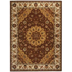 Safavieh Handmade Traditions Tabriz Tan/ Ivory Wool and Silk Rug (6' x 9')
