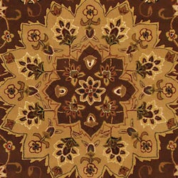 Safavieh Handmade Tabriz Tan/ Ivory Wool and Silk Rug (8' x 11')