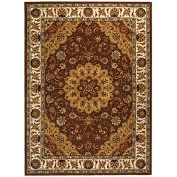 Safavieh Handmade Tabriz Tan/ Ivory Wool and Silk Rug (8' x 11')