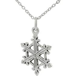 Tressa Sterling Silver Snowflake Necklace