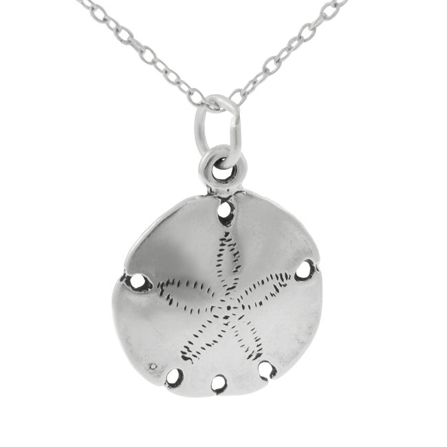 Journee Collection Sterling Silver Sand Dollar Necklace