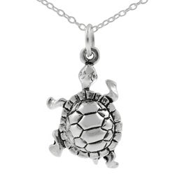 Tressa Sterling Silver Turtle Necklace