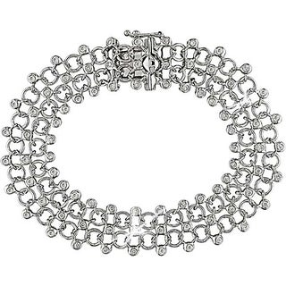 Miadora 18k White Gold 4/5ct TDW Diamond Bracelet (G-H-I, SI)