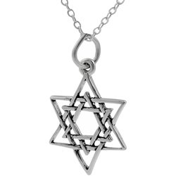 Tressa Sterling Silver Star of David Necklace