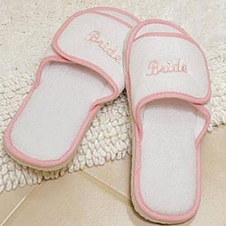 Terry Cloth Bride Slippers