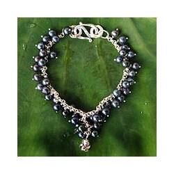 Pearl 'Blue Moon Rose' Bracelet (Thailand)