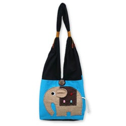 'Happy Elephant' Cotton Handbag (Thailand)