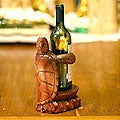Wood 'Gift from the Sea' Wine Bottle Holder (Indonesia)
