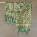 Silk Batik 'Jade Princess' Scarf (Indonesia)