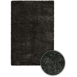 Black Handmade Majesta Collection Rug (5' x 7'6)