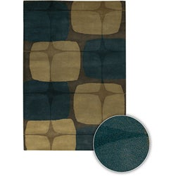 Hand-tufted Contemporary Mandara Collection Rug (5'