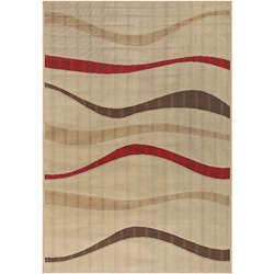 Indoor/ Outdoor Contemporary Mandara Rug (5'2 x 7'5)