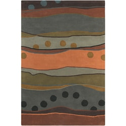Hand-tufted Mandara Grey/ Tan Wool Rug (7'9 x 10'6)