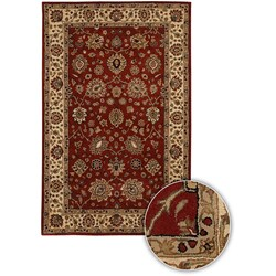Hand-tufted Mandara Cherry Wool Rug (7'9 Star)