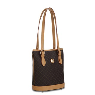 Rioni Signature Brown Shoulder Bucket Handbag