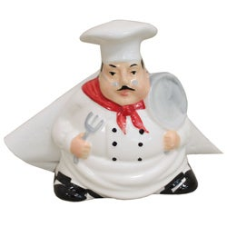 Plump Chef Hand-painted Napkin Salt and Pepper Set