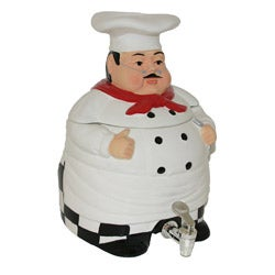 Plump Chef Hand-painted Water Jug
