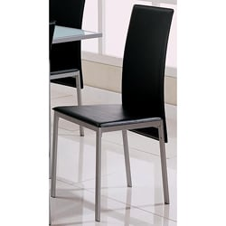 Pearl Black Metal Dining Chairs (Set of 4)
