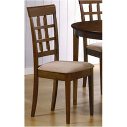 Walnut Window-back Dining Chair (Set of 2)