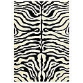 Handmade Soho Zebra Ivory/ Black New Zealand Wool Rug (5' x 8')
