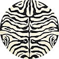 Handmade Soho Zebra Ivory/ Black New Zealand Wool Rug (6' Round)