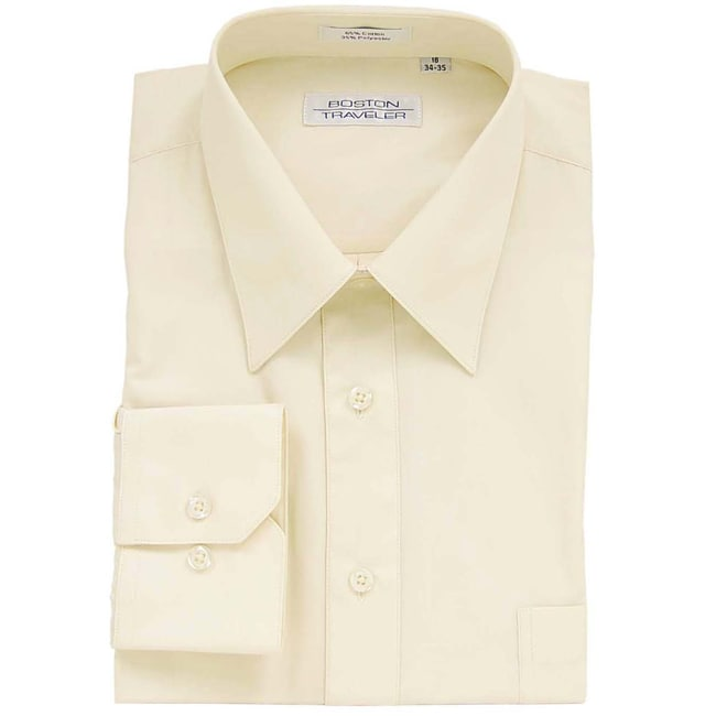 boston traveler men 39 s light yellow dress shirt 11366774
