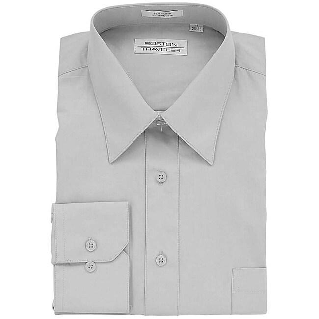 Boston Traveler Men's Grey Dress Shirt