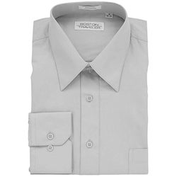 Boston Traveler Men's Grey Dress Shirt