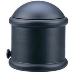 Black Endcap Finial Drapery Rod Set