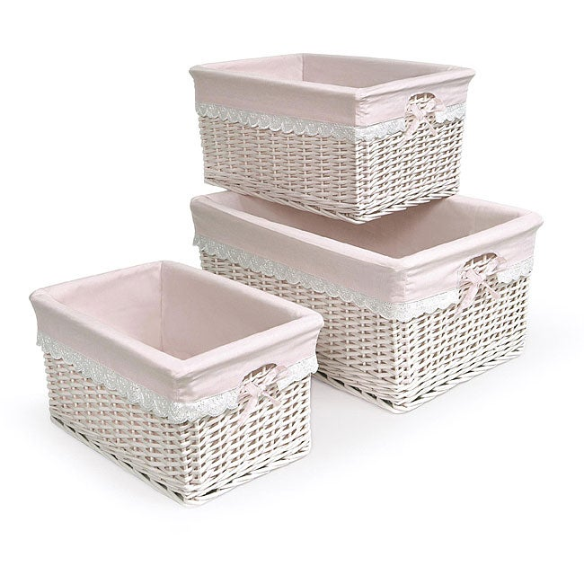 Pink Three Basket Set with Liners