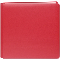 Family Treasures Red 12x12 Memory Album with 40 Bonus Pages