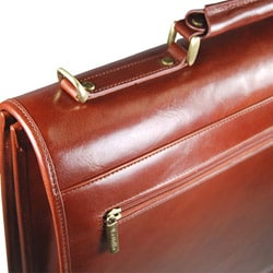 Torino Double Gusset Flap-over Briefcase