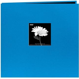 Fabric Frame Sky Blue 12x12 Memory Book with 40 Bonus Pages