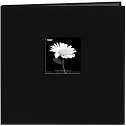 Fabric Frame Deep Black 12x12 Memory Book with 40 Bonus Pages