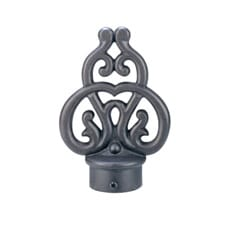 Rustica 8-foot Iron Drapery Rod with Scroll Finials
