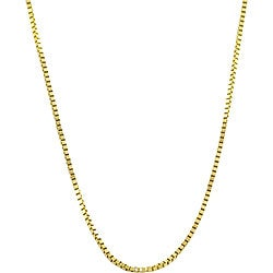 Fremada 10k Yellow Gold 18-inch Box Chain